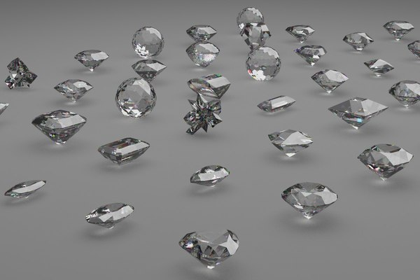 3D gem cuts pack model