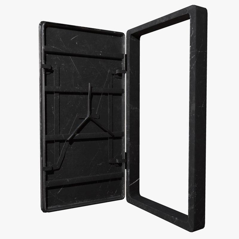 bunker door metalness 3D model