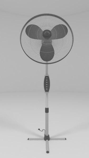 oscillating pedestal fan 3D