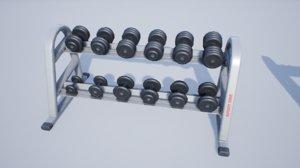 pbr dumbbell rack model