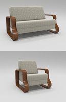 single seating contemporary sofa 3D