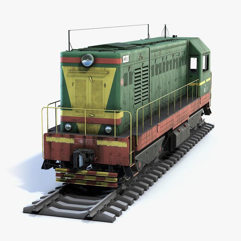 soviet locomotive chme2 3D model
