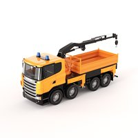 scania manipulator truck toy 3D model