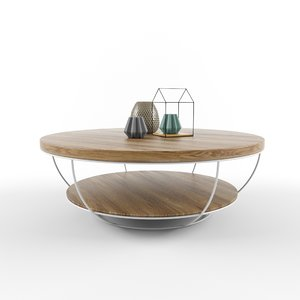 3D coffee table tinesixe model