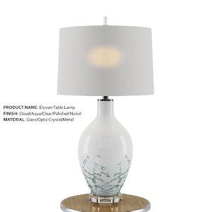 elysian table lamp 3D model