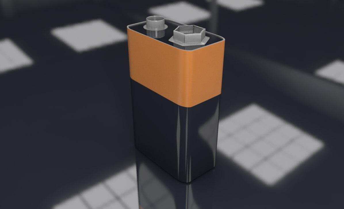 battery bateria 3D model