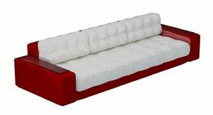 3D model sofa style ferrari cars