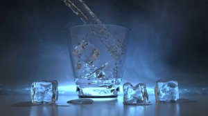 water fluid glass 3D model