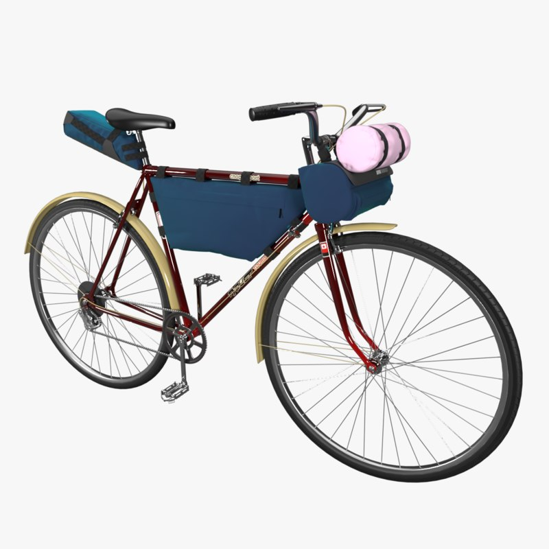 3D touring bike tourist bicycle model
