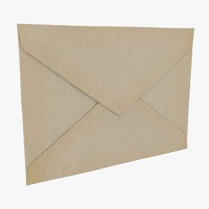 3D model envelope - closed