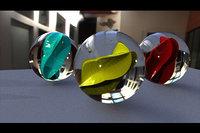3D marble balls model