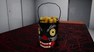 3D furniture october decorative bucket model
