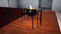 furniture october candle spider 3D model