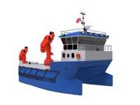 Service catamaran