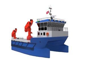 3D service catamaran