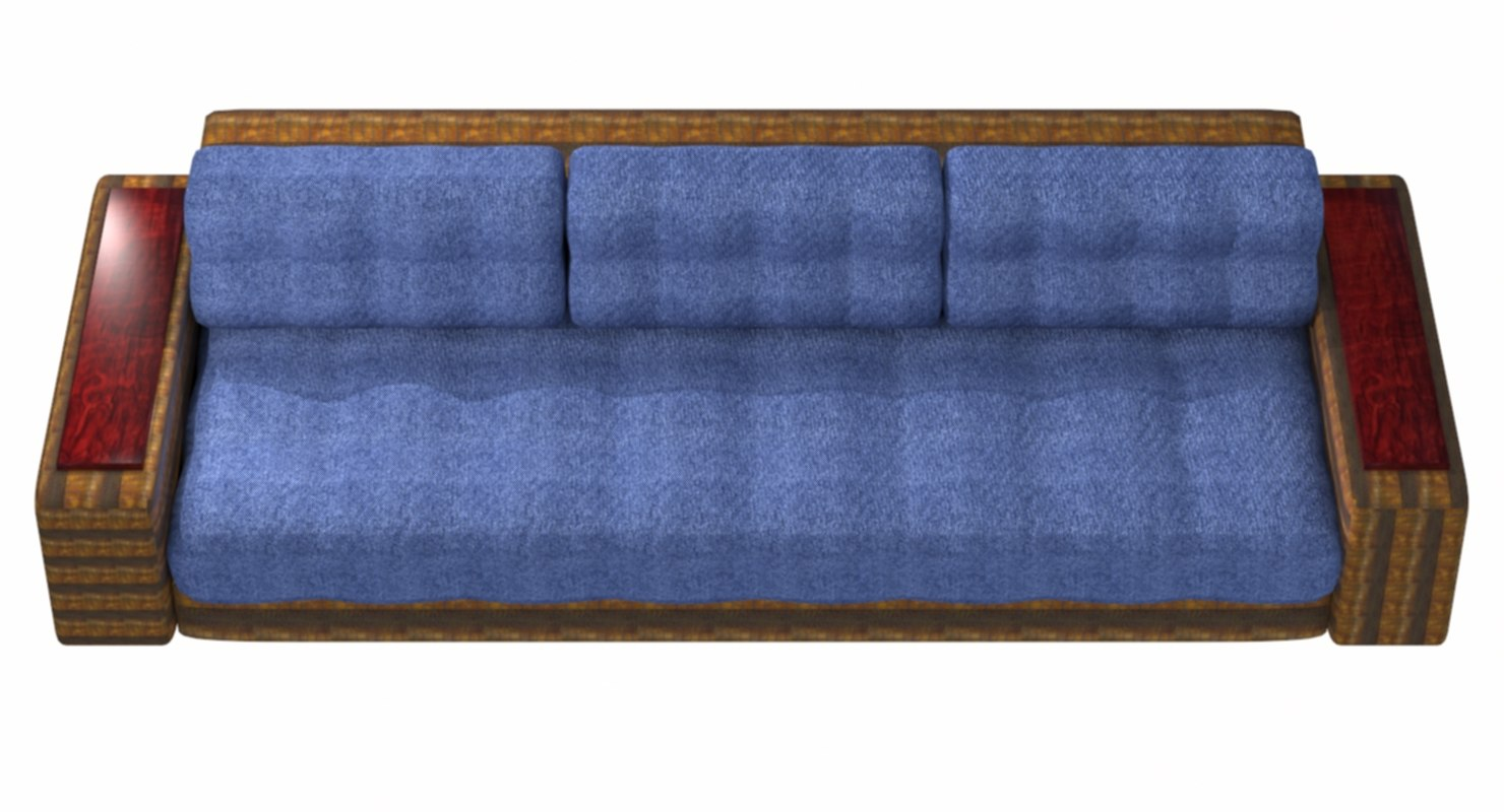 sofa denim 3D model