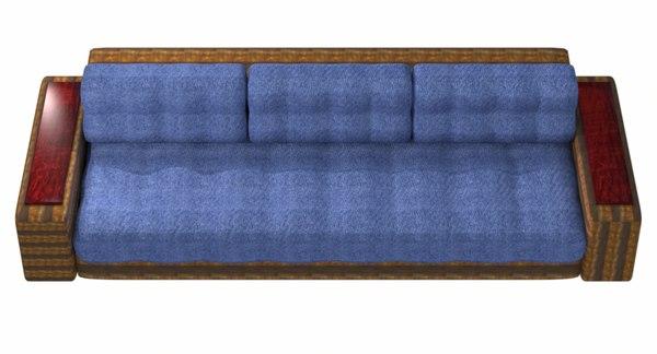 sofa denim 3D model
