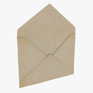envelope - opened 3D model