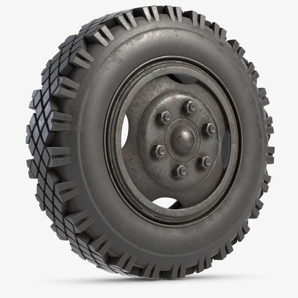 wheel modeled 3D model