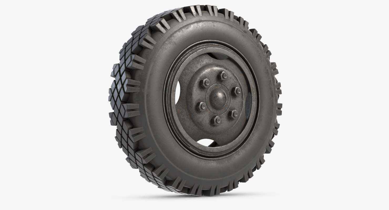 wheel modeled 3D model