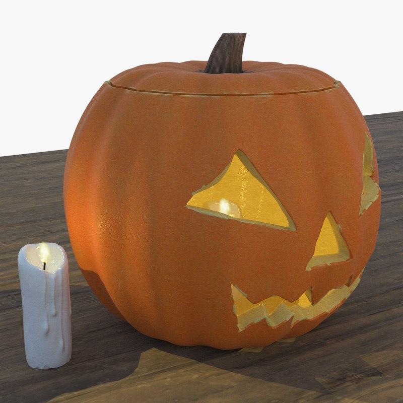 3D pumpkin light