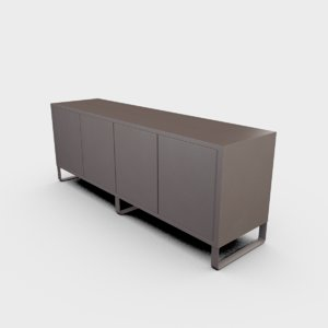 3D sideboard office cabinet