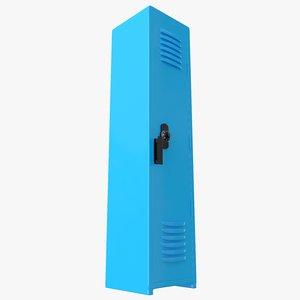 locker cyan 3D model