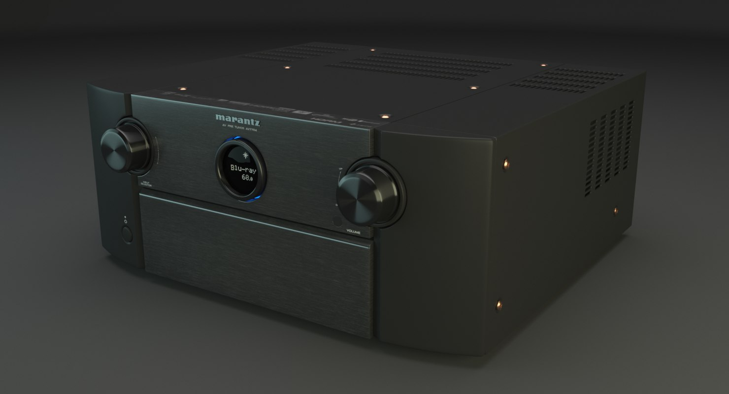 3D model marantz receiver