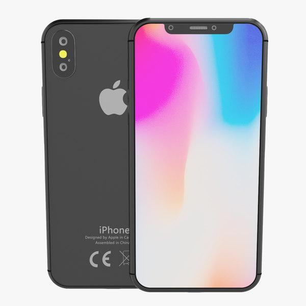 3D model iphone x element v