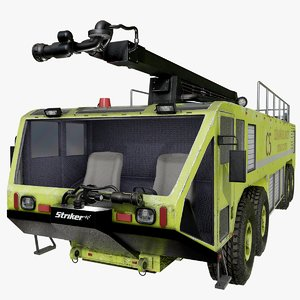 3D oshkosh striker 4500 green model
