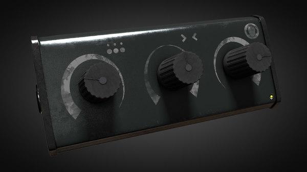 3D tuner music player model