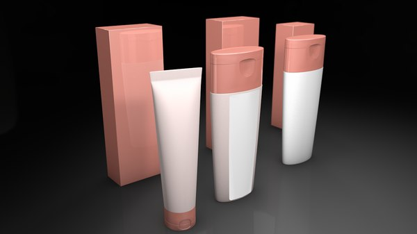 cosmetic product packaging 3D model