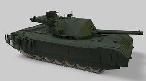 3D war tank armata t14