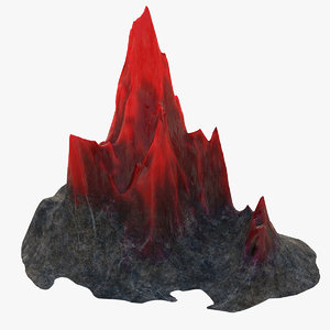 mountain crystal 3D model