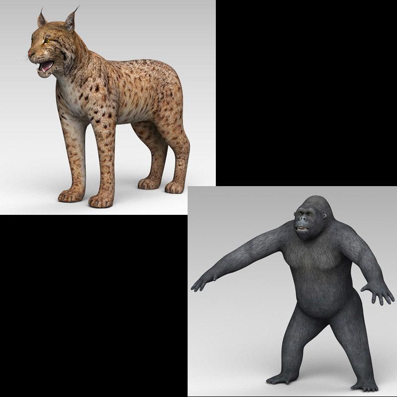 lynx gorilla 3D model