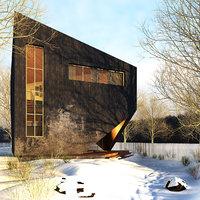 architecture house building 3D