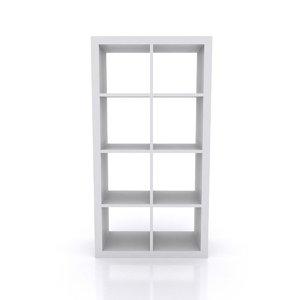 3D simple cubed shelving unit model