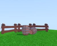 3d wooden models package