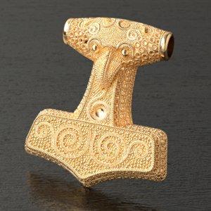 thor hammer pendant 3D