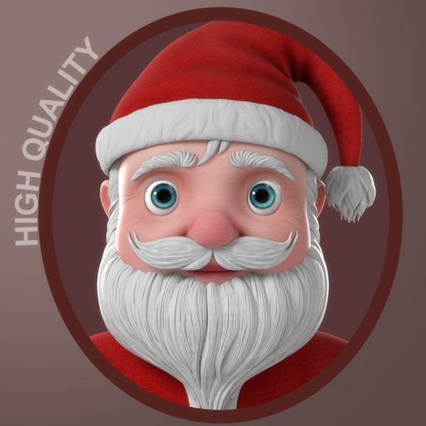 cartoon santa claus character 3D model