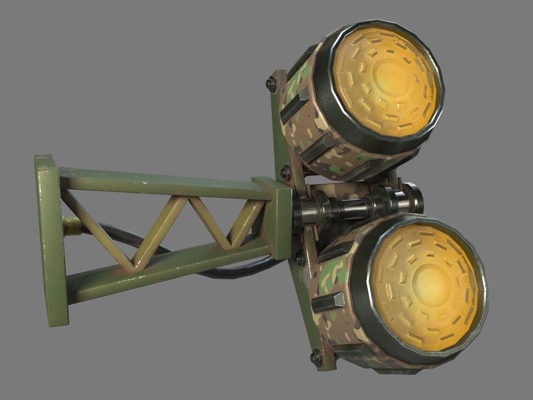 3D military lamp -