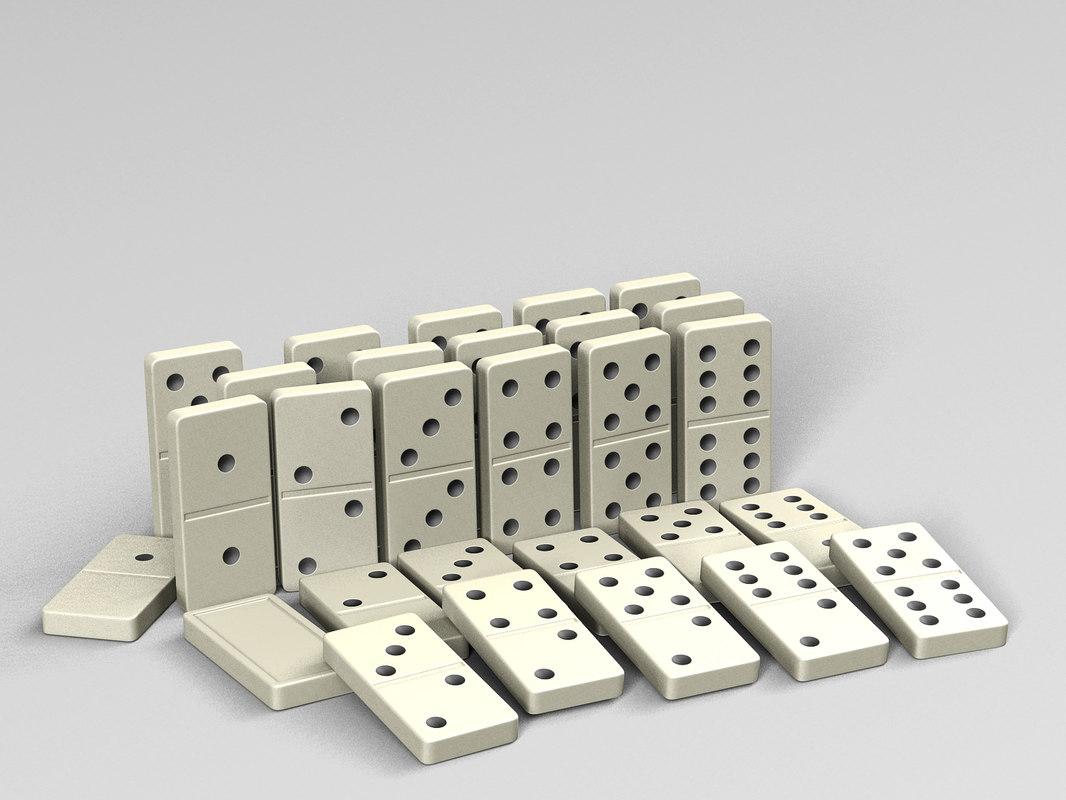 3D model dominoes games