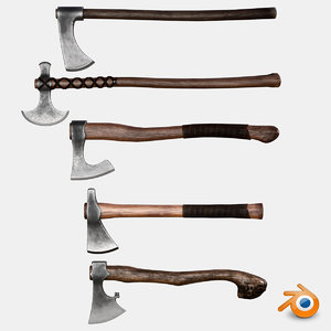 ready axes pack ue4 3D model