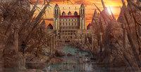 Fantasy Castle Landscape V4