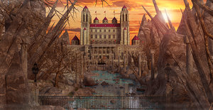 3D castle fantasy landscape