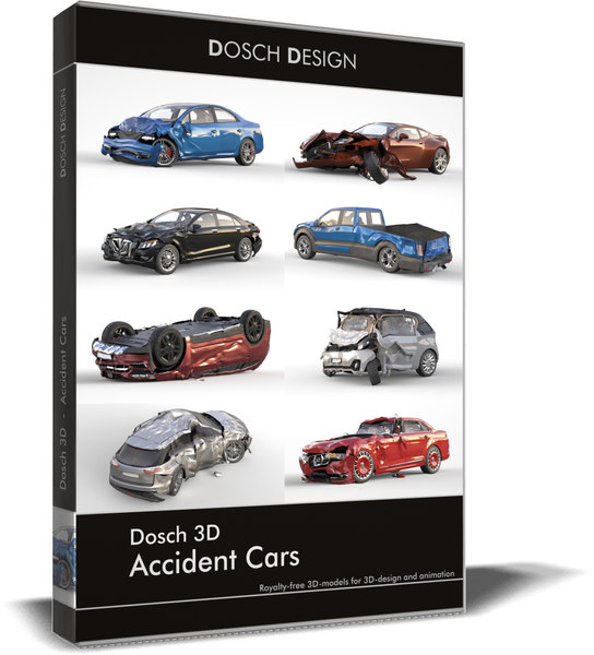 3D accident cars