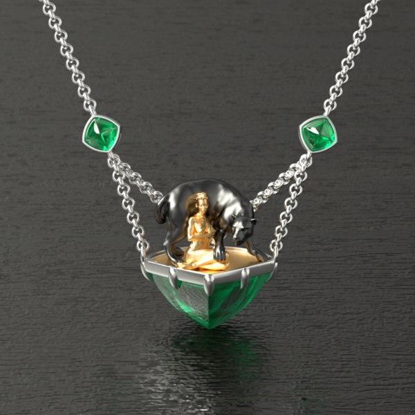 3D jewelry jewellery necklace model