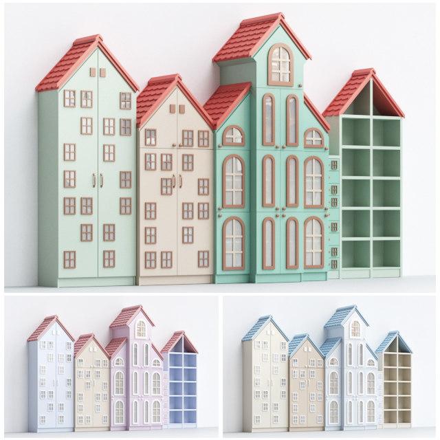 3D childrens cabinets model