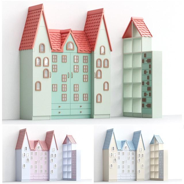 3D cabinet children art