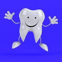 3D fun tooth character !